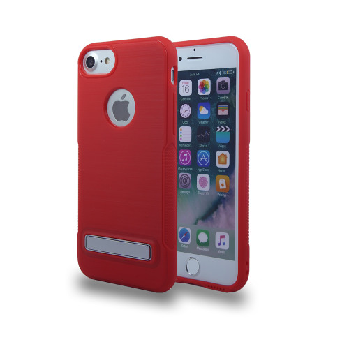 Noskid Skin Case with Kickstand For Samsung Grand Prime G530 and J2 Prime  Red