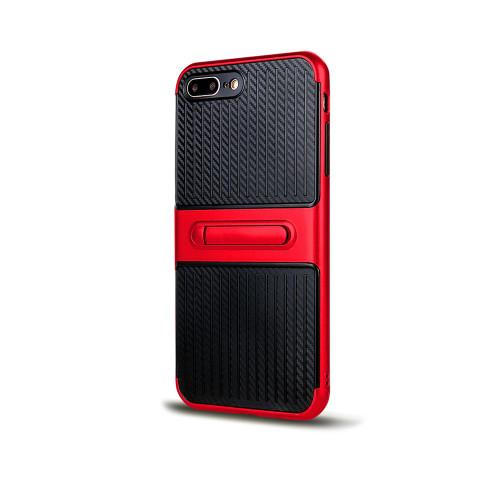 Traveler Hybrid Case with Kickstand for Samsung J5 Red