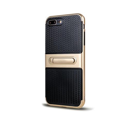 Traveler Hybrid Case with Kickstand for Samsung J7 2016 Gold