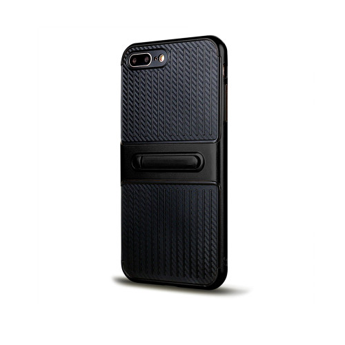 Traveler Hybrid Case with Kickstand for Samsung J7 Prime Black