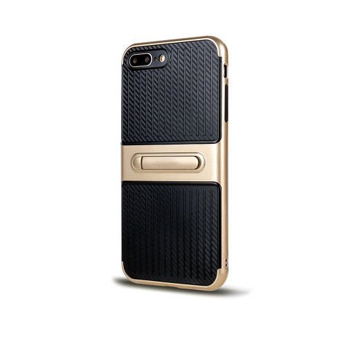 Traveler Hybrid Case with Kickstand for Samsung J7 Prime Gold