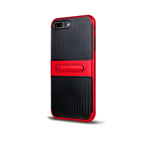 Traveler Hybrid Case with Kickstand for Samsung Note 5 Red