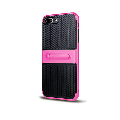 Traveler Hybrid Case with Kickstand for Samsung Note 5 Hot Pink