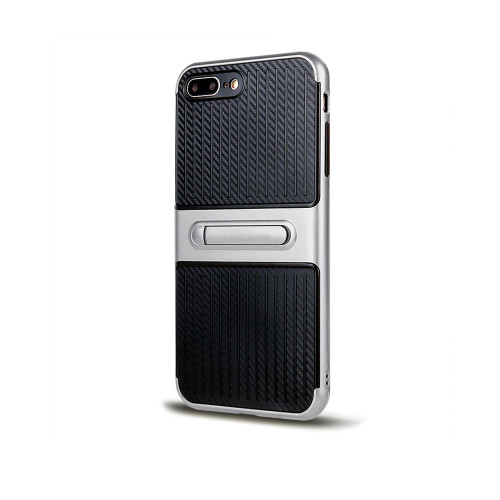Traveler Hybrid Case with Kickstand for Samsung Note 5 Silver