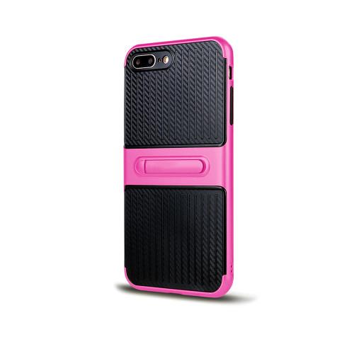 Traveler Hybrid Case with Kickstand for Samsung S7 Hot Pink