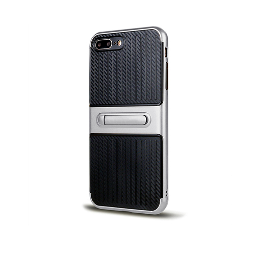 Traveler Hybrid Case with Kickstand for Samsung S7 Silver
