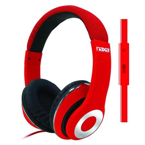 Naxa backspin Pro headphoneswith mic RED