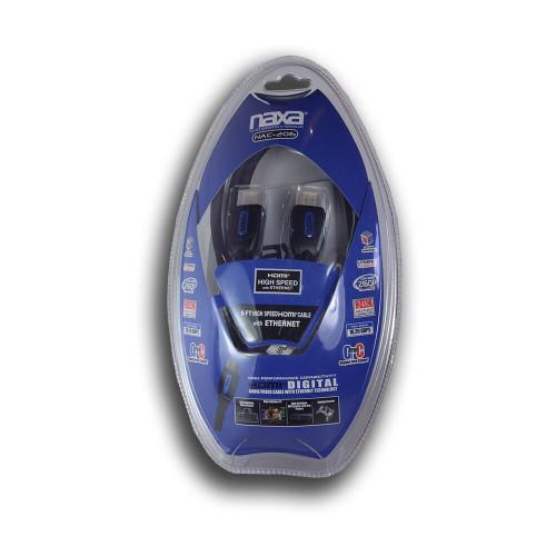 Naxa 6ft 1.4v Ethernet HDMI Cable