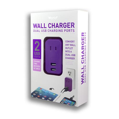 iWorld Oulet Mini USB Charger Purple