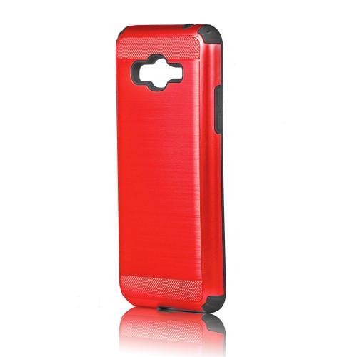 Hard Pod Hybrid Case for Samsung Galaxy J1 Ace Red-Black
