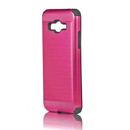 Hard Pod Hybrid Case for Samsung Galaxy S6 Edge Hot Pink-Black