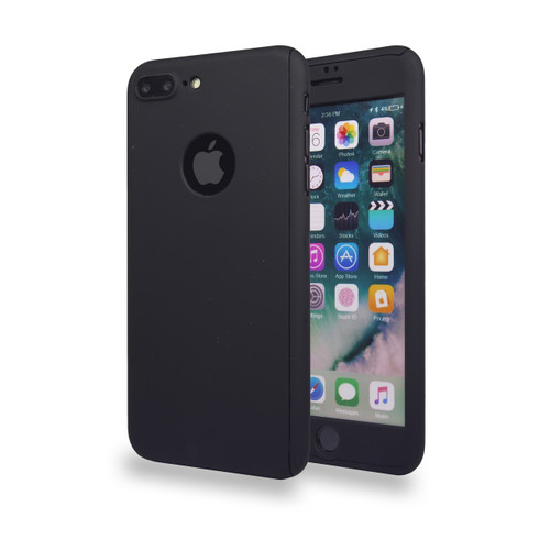 360° Extreme Snap On Protective Case For iPhone 7/8 Plus Black