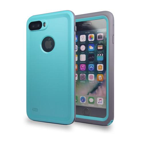 Waterproof Heavy Duty Guard Case For iPhone 7/8 Plus Aqua-Gray