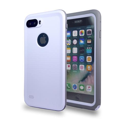 Waterproof Heavy Duty Guard Case For iPhone 7/8 Plus White-Gray