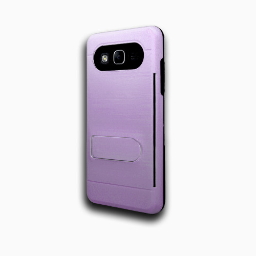 ID Ultrathin Hybrid Case with Kickstand for LG K20 Violet
