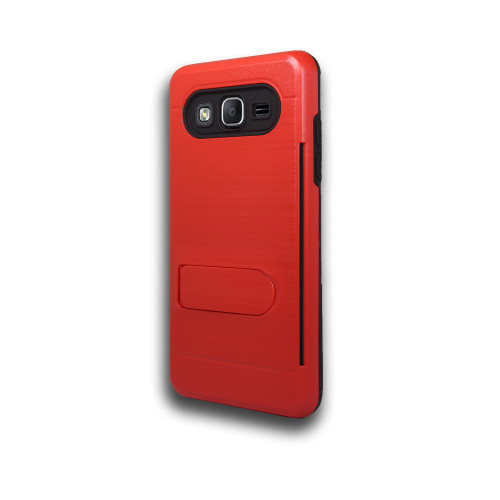 ID Ultrathin Hybrid Case with Kickstand for LG K20 Red