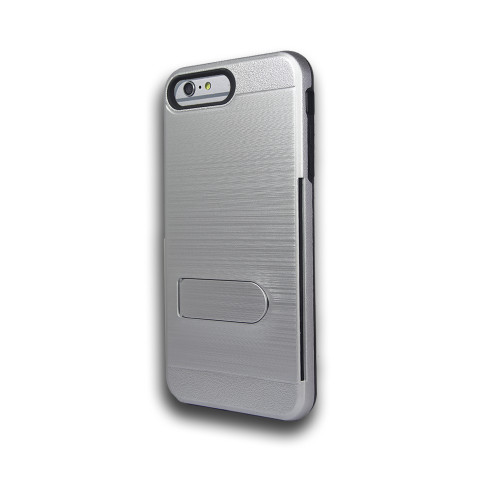 ID Ultrathin Hybrid Case with Kickstand for LG K20 Silver