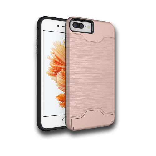 Editor Hybrid CC Case with Kickstand for Samsung Galaxy S8 Rose Gold