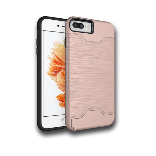 Editor Hybrid CC Case with Kickstand for Samsung Galaxy S8 Plus Rose Gold