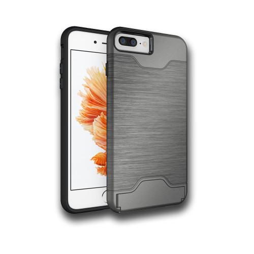 Editor Hybrid CC Case with Kickstand for Samsung Galaxy S8 Plus Titanium