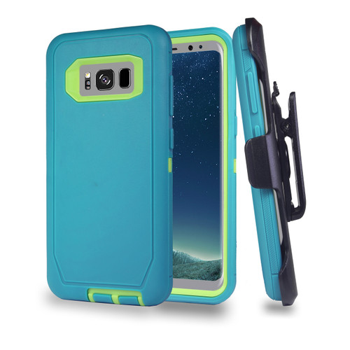 Sports Guard Case with Holster Combo for Samsung Galaxy S8 Plus Aqua-Green