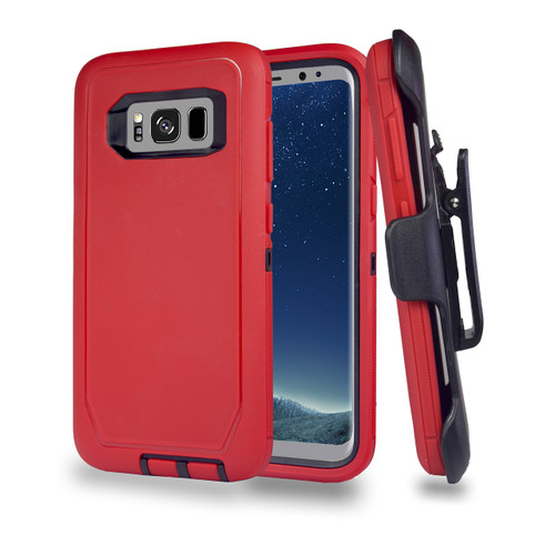 Sports Guard Case with Holster Combo for Samsung Galaxy S8 Plus Red-Black