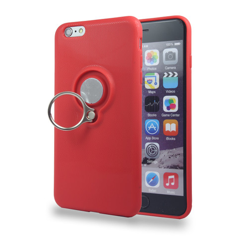 Coolring Skin Case with Kickstand for iPhone 7/8 Plus Red