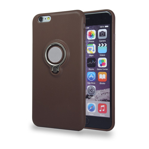 Coolring Skin Case with Kickstand for iPhone 7/8 Plus Brown