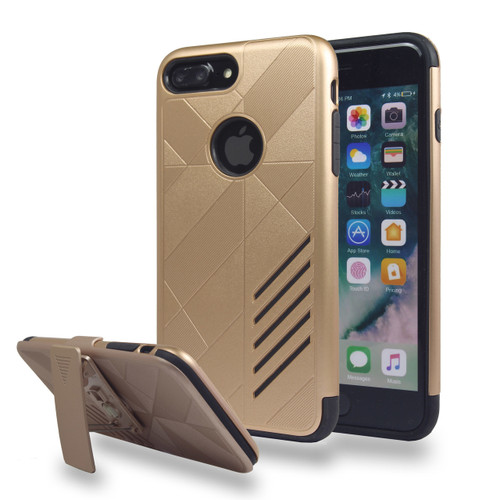 Avant Guard Case with Holster Combo for iPhone 7/8 - Gold-Black