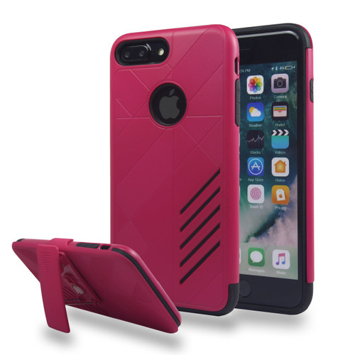 Avant Guard Case with Holster Combo for iPhone 7/8 Plus - Hot Pink-Black
