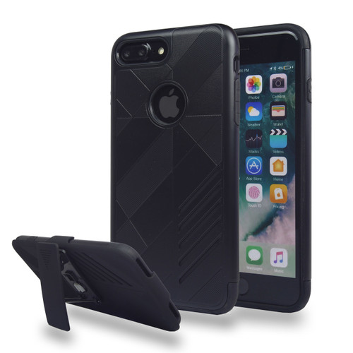 Avant Guard Case with Holster Combo for iPhone 7/8 Plus - Black-Black