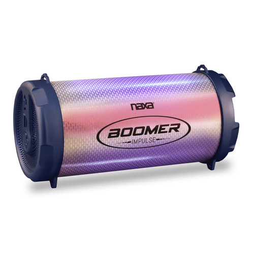 Naxa Boomer Impulse Shine Bluetooth Boombox with LED Lights
