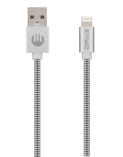 Epyc metal series usb to ligthning cable Silver