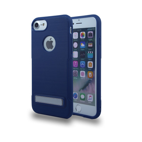 Noskid Skin Case with Kickstand for J7 2017 Blue