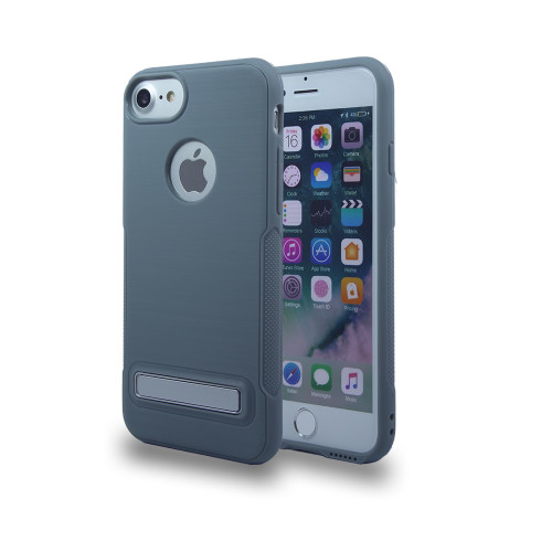 Noskid Skin Case with Kickstand for J7 2017 Gray