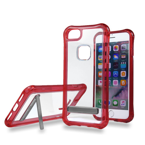 Clear case for iPhone 10 red