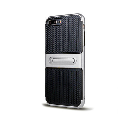 Traveler Hybrid Case with Kickstand for iPhone 10 silver