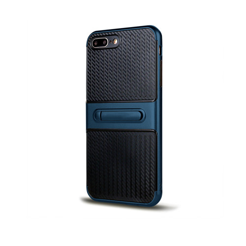 Traveler Hybrid Case with Kickstand for iPhone 10 blue