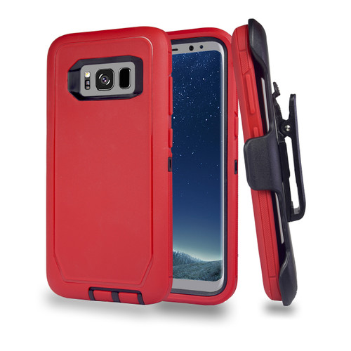 Sports Guard Case with Holster Combo for Note 8 Red