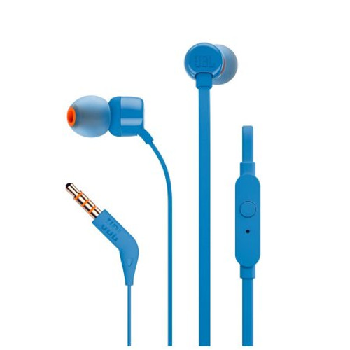 JBL T110 in-ear headphones blue