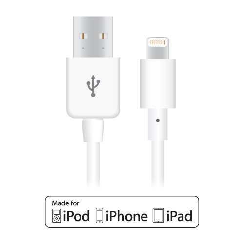 Naztech charge & sync cable iphone 10FT (WHITE-BLACK)