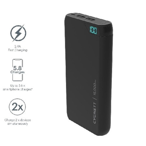 Cygnett ChargeUp Boost 15000 mAh Portable Power Bank