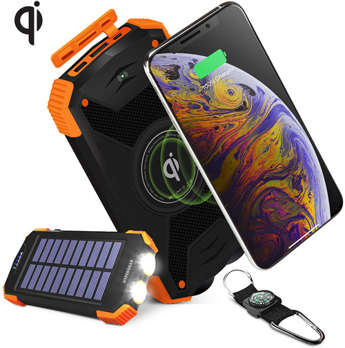 HyperGear Solar Wireless 10000mAh Portable Charger