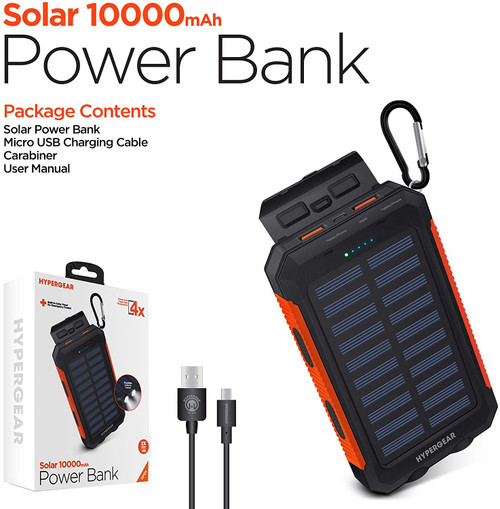 HyperGear 10000mAh Outdoor Solar Charger