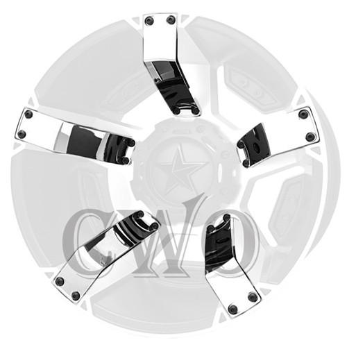 XD Series By KMC Wheels XD811 Rockstar 2 Inserts 811FIN22244NCHR