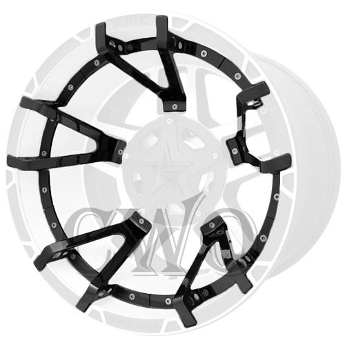 XD Series By KMC Wheels XD827 Rockstar 3 Split Spoke Inserts 827SS222-GB