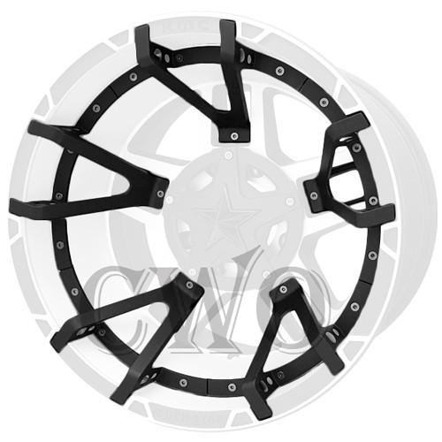 XD Series By KMC Wheels XD827 Rockstar 3 Split Spoke Inserts 827SS290P-MB