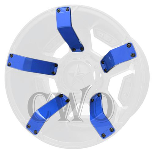 XD Series By KMC Wheels XD811 Rockstar 2 Inserts 811FIN29000-BL