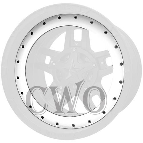 XD Series By KMC Wheels XD827 Rockstar 3 Bead Ring 827BR18-WT