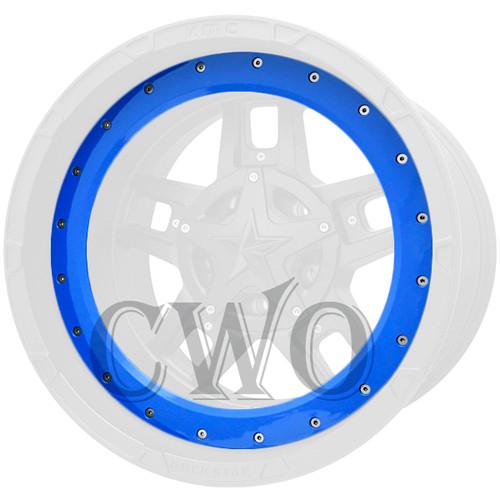 XD Series By KMC Wheels XD827 Rockstar 3 Bead Ring 827BR18-BL